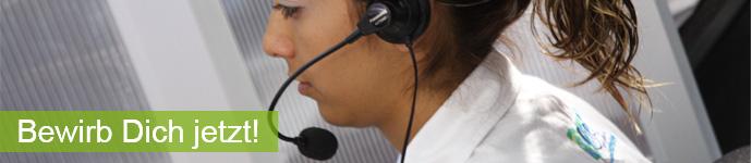 Banner Stellenangebot Telefonist/ Telefonistin