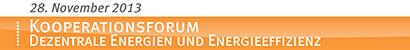 Kooperationsforum für dezentrale Energien und Energieeffizienz