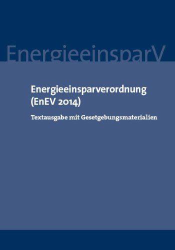 Energieeinsparverordnung EnEV 2014 Cover