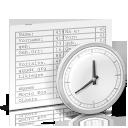 Dokument mit Uhr Icon