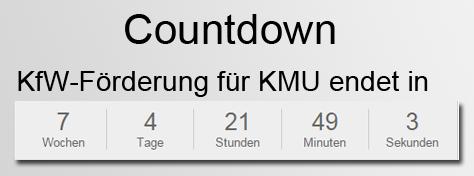 """Countdown zum Ende der KfW-Förderungen """"Energieberatung"""""""