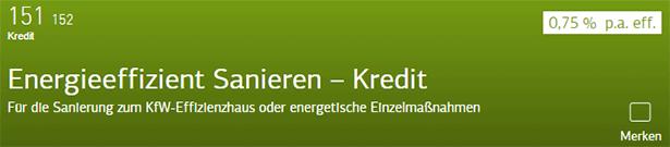 Energieeffizient Sanieren – Kredit