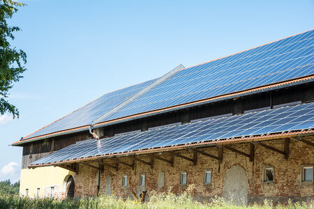 Solaranlage bei Agrarbetrieb