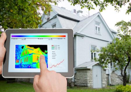Thermografische Analyse von Wohnhaus