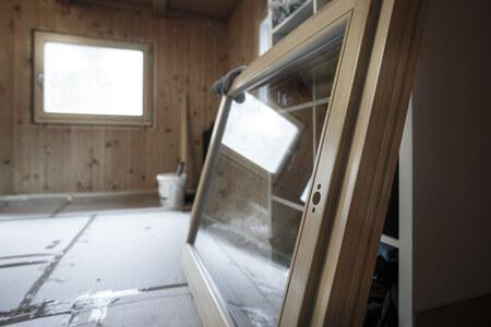 Neue Fenster bei Sanierung