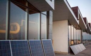 Hotel mit Solaranlage
