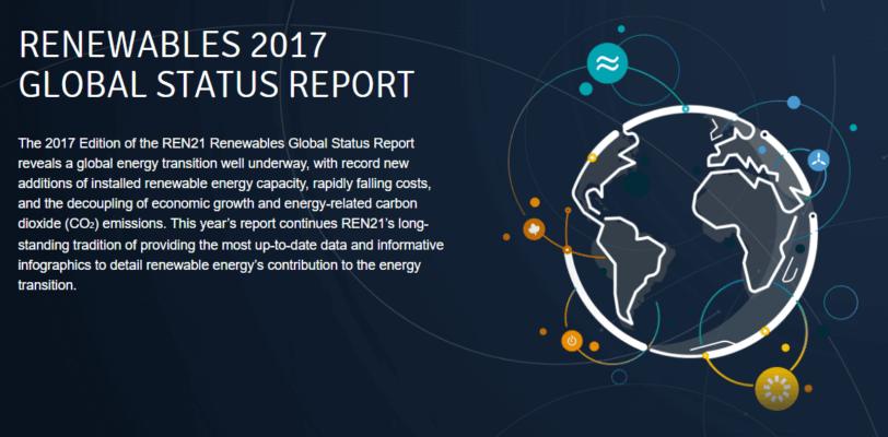 Renewables 2017: Global Status Report