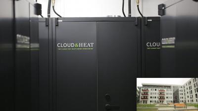 Cloud & Heat Server und Wohnhaus