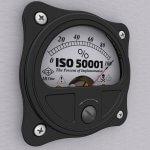 Stromzähler mit ISO 50001 Aufscrhift