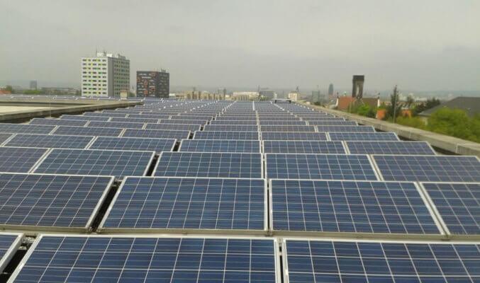 Fotovoltaikanlage TU Dresden