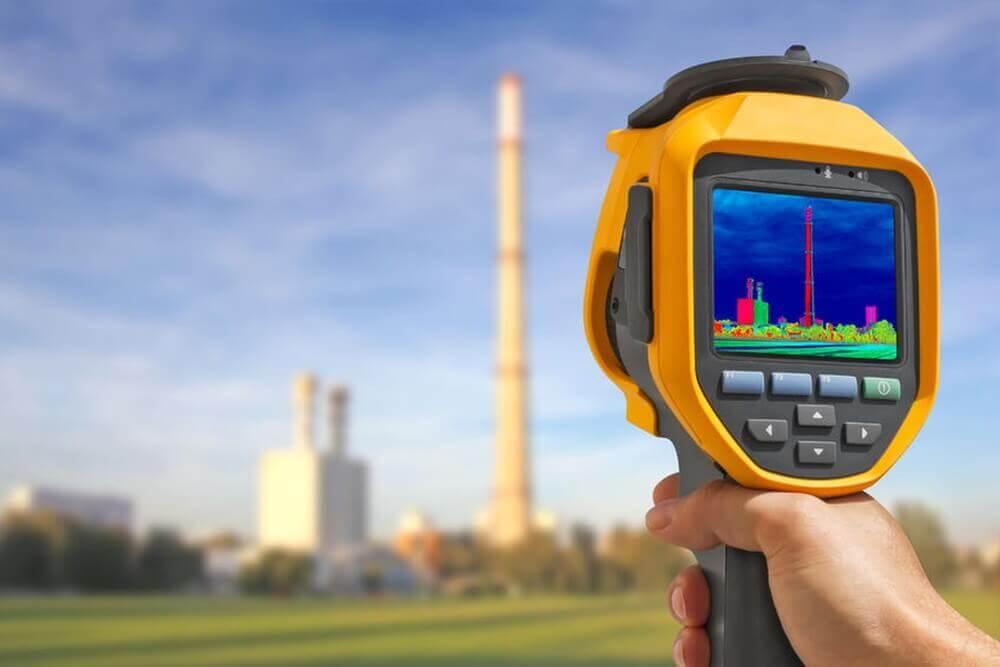Thermografie einer Fabrik der Industrie