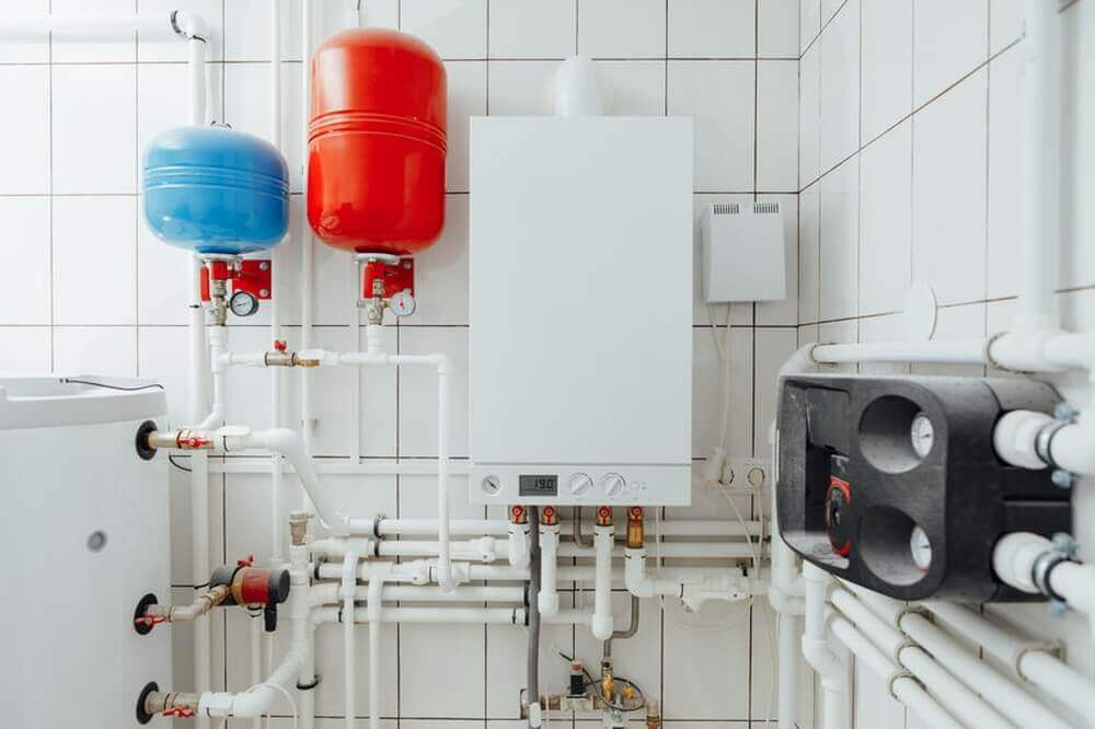 Modernes Heizsystem in einem Privathaus