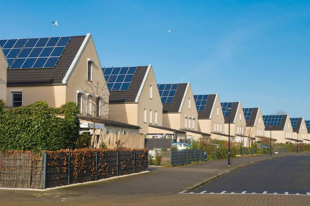 Reihenhäuser mit Solar