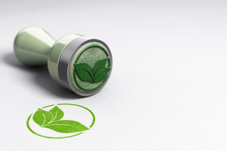 Stempel saubere Energie