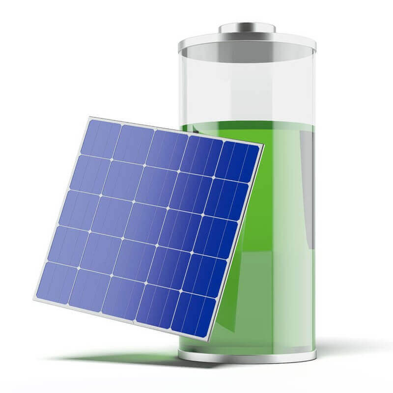 Solarzelle mit Batterie