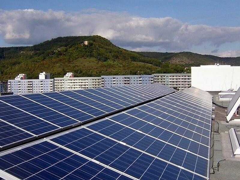Solaranlage auf dem Dach in Jena
