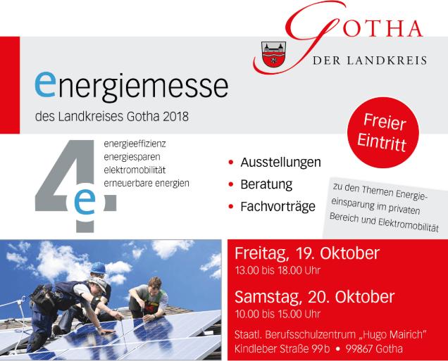 Flyer Energiemesse Gotha