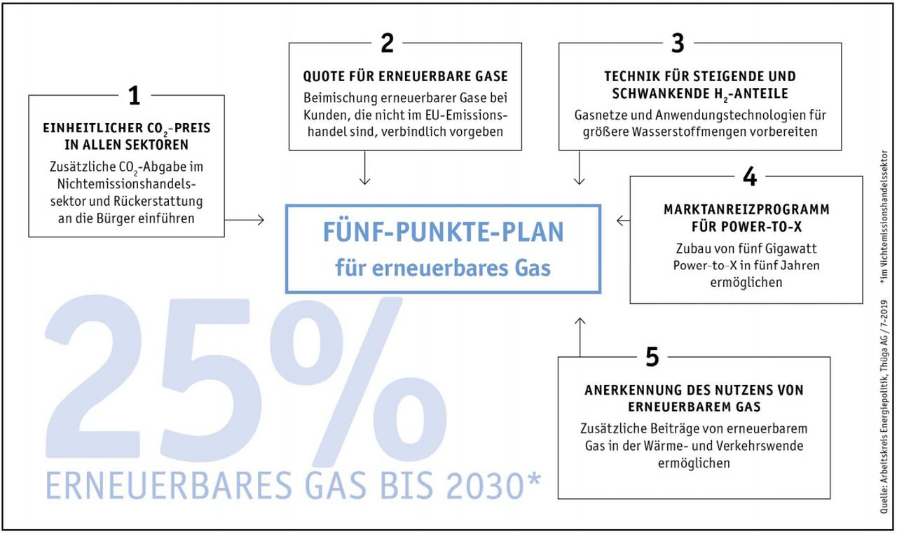 Erneuerbare Gase bis 2030