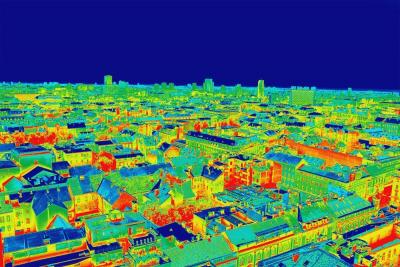 Thermografische Analyse einer Stadt