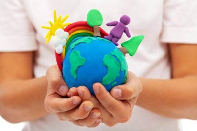 Welt in Kinderhänden