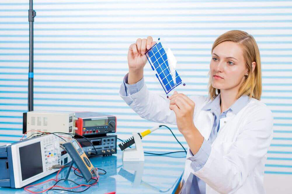 Forschungen an Solarzellen