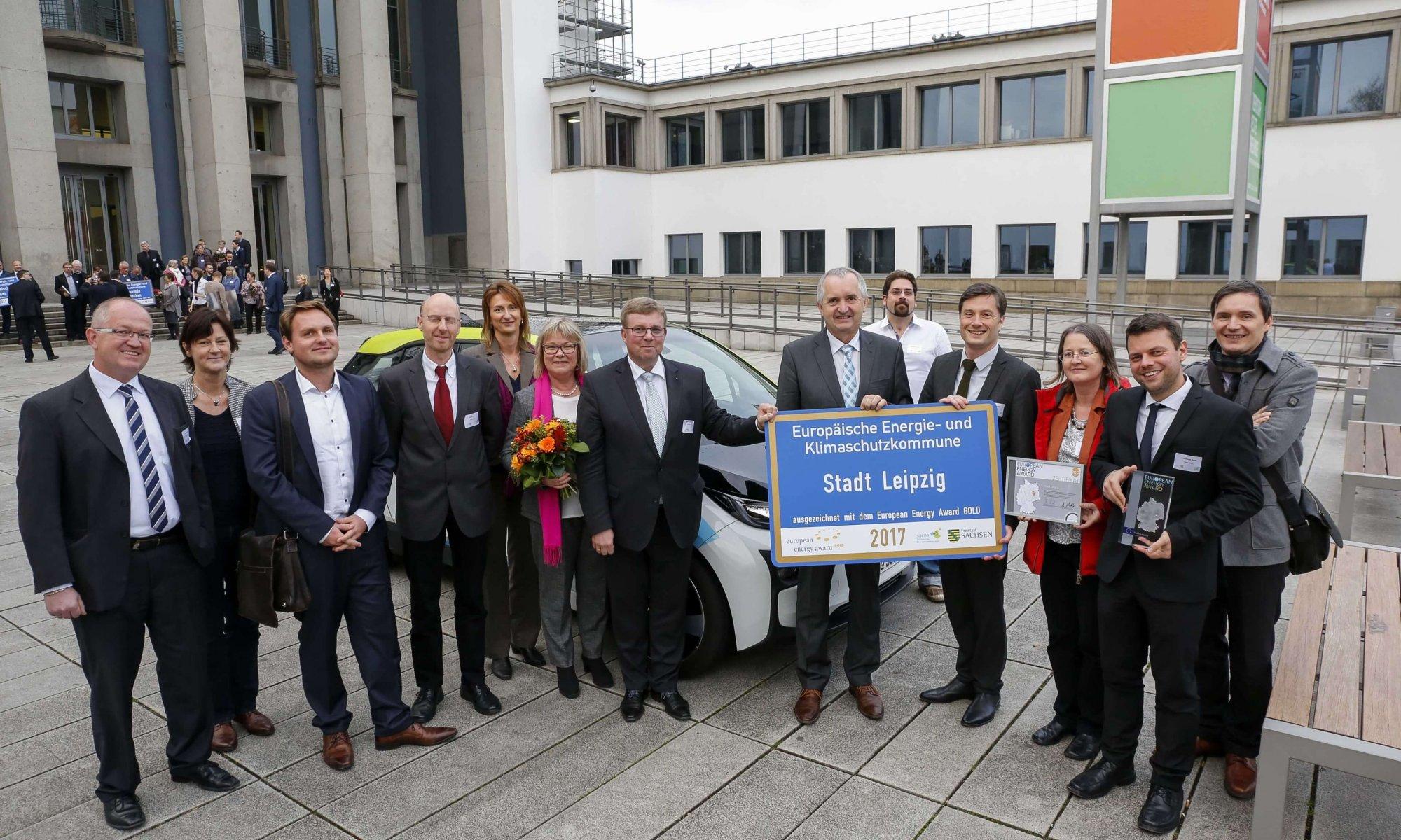 Preisverleihung der EEA in Gold für die Stadt Leipzig