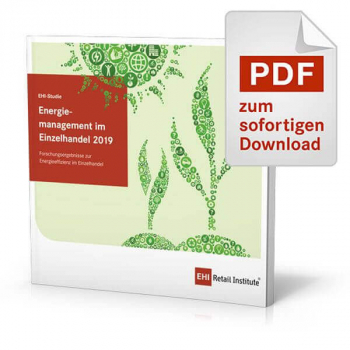 """Cover der Studie """"Energiemanagement im Einzelhandel 2019"""""""