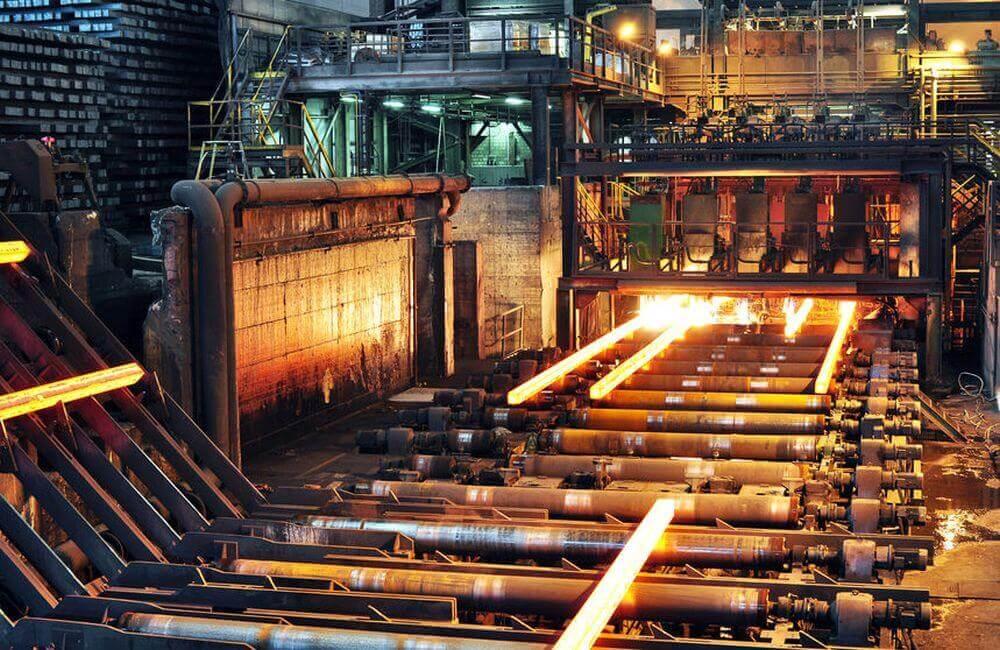 Stahlwerk von innen