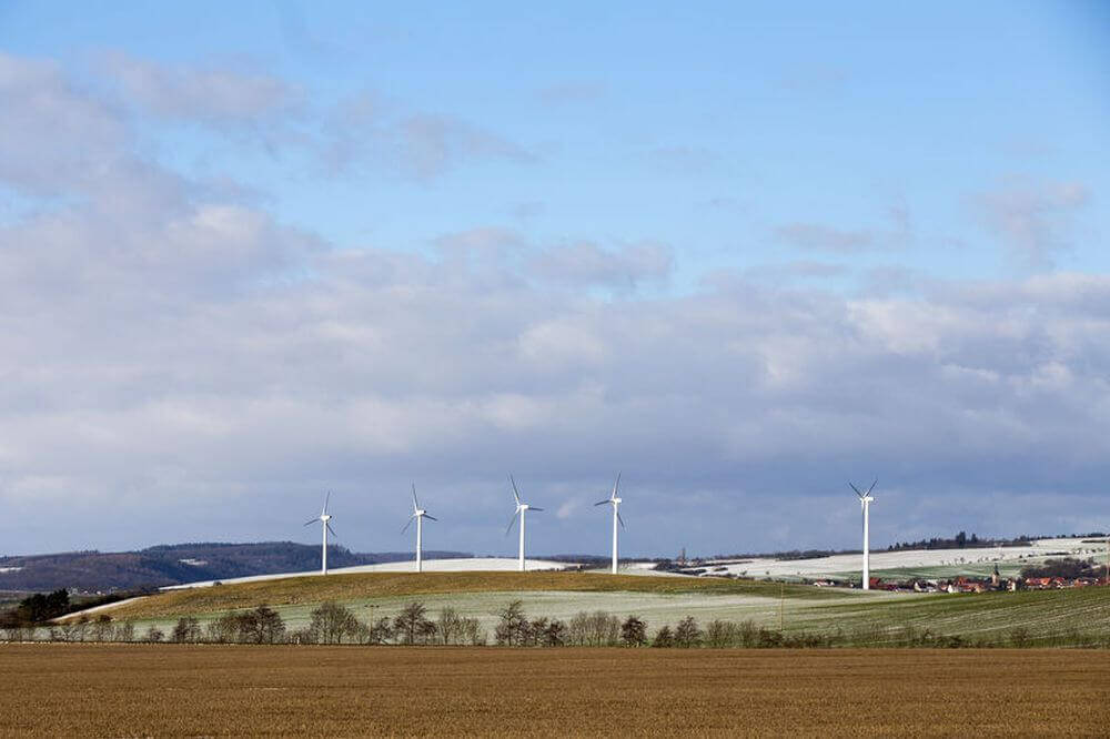 Windpark in Thüringen