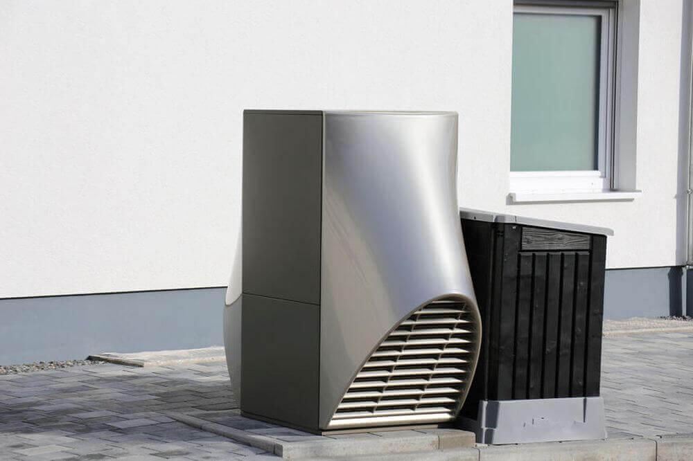 Moderne Wärmepumpe