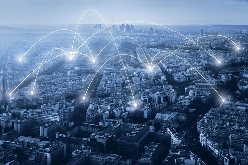 Energieeffizienz-Netzwerk in einer Großstadt