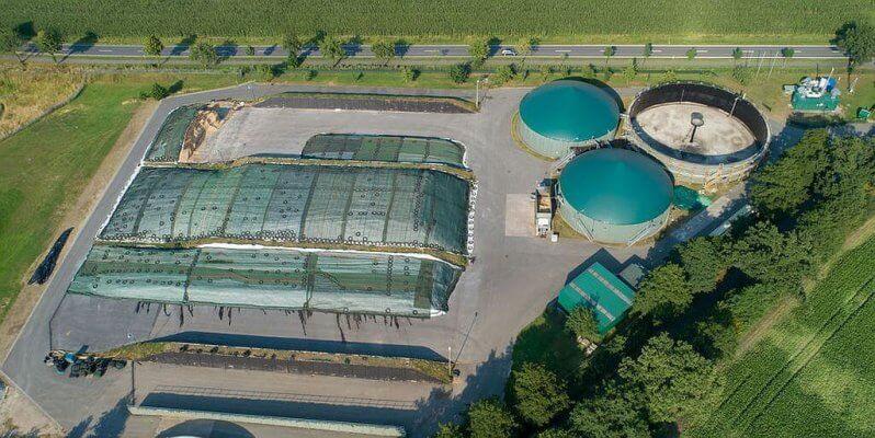 Biogasanlage aus der Luft