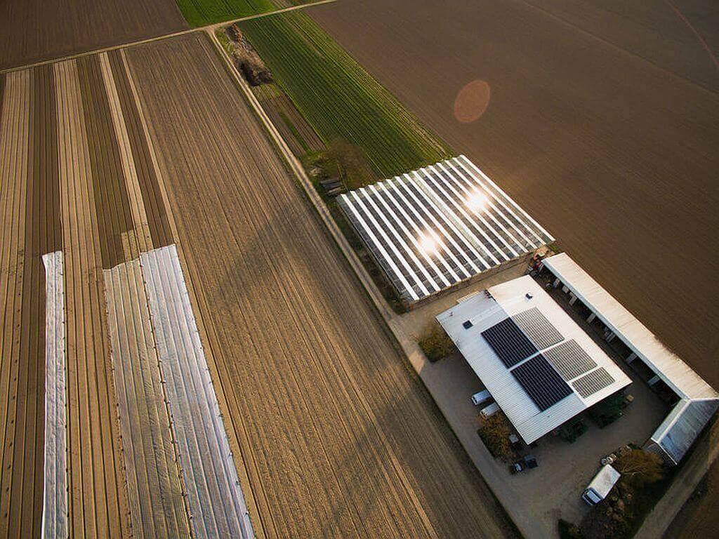 Landwirtschaftlicher Betrieb mit erneuerbaren Energien