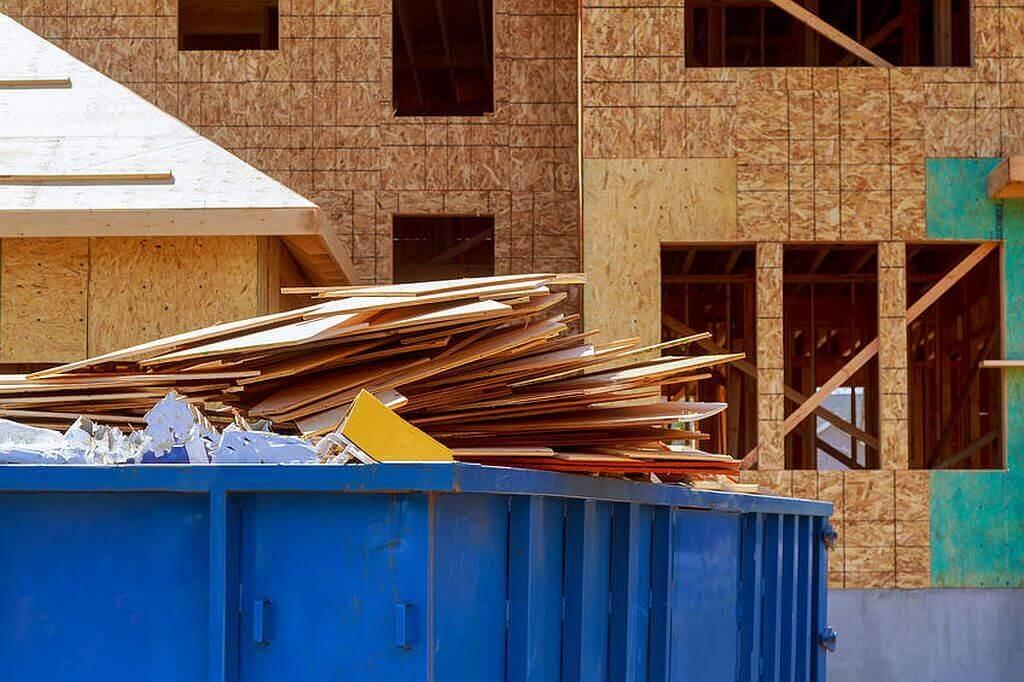 Neubau von einem Holzhaus