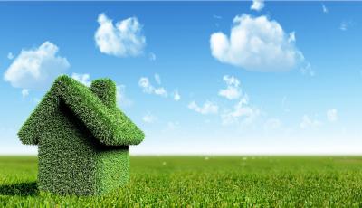 Grünes Haus für Energieeffizienz und Nachhaltigkeit