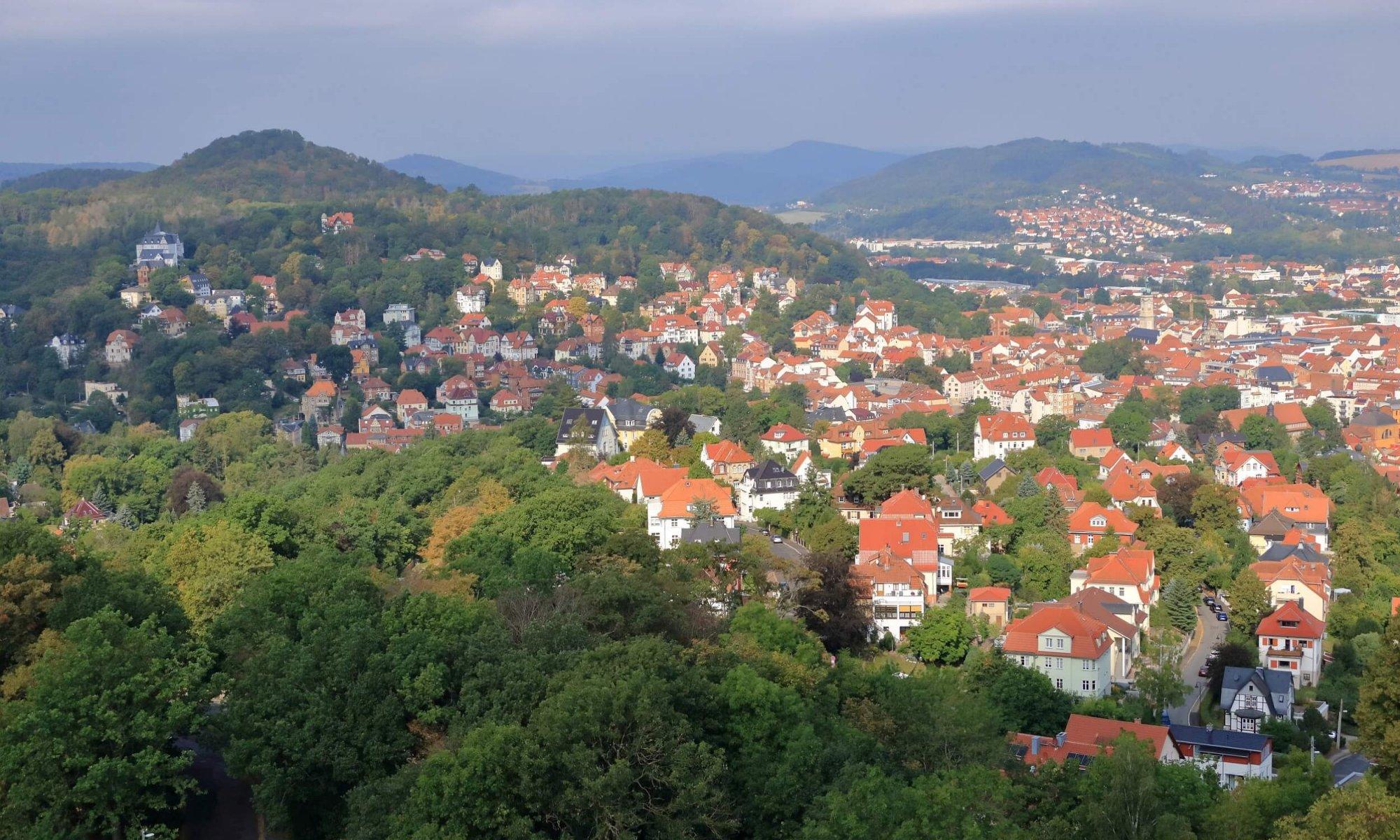 Luftaufnahme von Eisenach